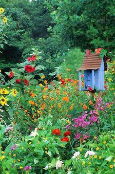 .idea for corner of back yard