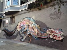Mural by Nychos in San Francisco