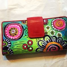 Sandra Kaye: Old Tired Wallet Made New :) Gesso then paint