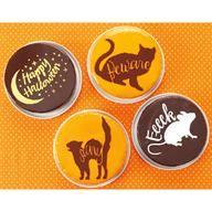 Spooky cake stencils from Martha Stewart Craft