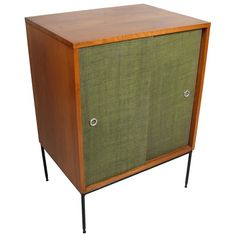 Paul McCobb Planner Group Grasscloth Cabinet 1950's