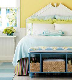 bed bedroom bench storage