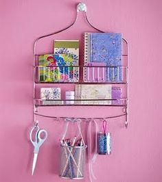 shower caddy as craft storage