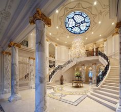 stairs stairway, grand entrance, foyer, house entrance, home architecture, place, entrance ways, dream houses, entryway
