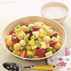 Hawiian Fruit Salad. Made this today for tonight. LOOOOOVED it! *drooling*. Seriously, very, VERY good!!!