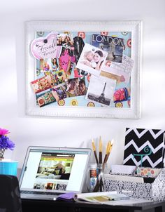 Our fun and colorful Magnetic Memo Board is a must for any girl headed to college! #dormdecor #kirklands #eCatalog
