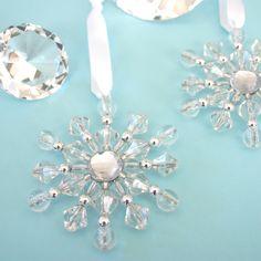 Beaded Snowflake Ornament inspiration