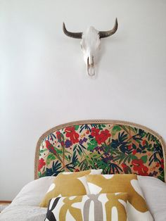 Your favorite fabric + your headboard = wow