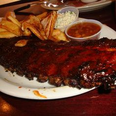 One of the best dishes you'll find on Beale Street: ribs from Blues City Cafe. http://www.bluescitycafe.com/