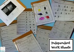 Top Websites for Independent Worksheets {for language arts worksheets for early childhood or special education}