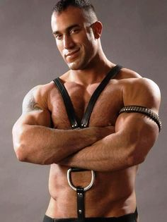 hot sexy gay men male muscles leather bondage kinky