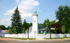 Lighthouse at the corner of Main St and Nanticoke Ave, Endicott, NY