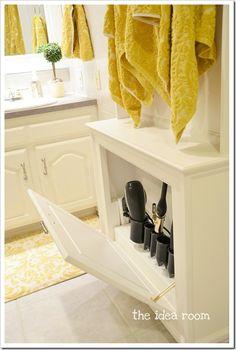 towel racks, tool storage, bathroom storage, hair tools, cabinet, hous, hair care, diy, hair styling tools