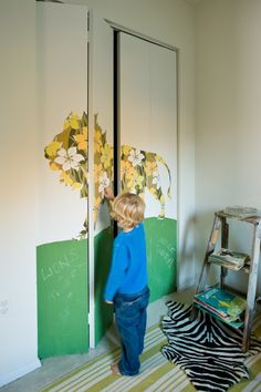 I would love to do this in a kids room.