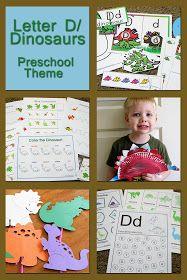 Mommy's Little Helper: Letter D/Dinosaur Preschool Theme