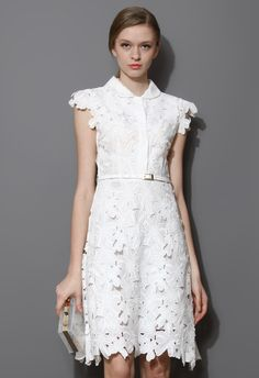 Full Flower Cut Out Midi Dress by: Chicwish