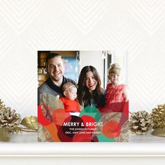 All is merry and bright with 'Holiday Impression' Holiday Photo Cards by Stina Persson for Tiny Prints in Bright Red