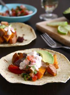 sweet potato tacos with chipotle cream