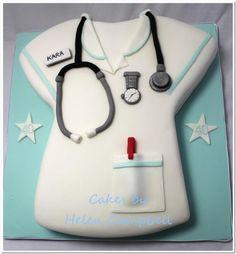Nurse's Uniform Cake...for when Amanda Martin becomes a nurse! @Amanda Snelson Martin