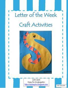 Full of adorable ideas for teaching letter recognition in Kindergarten!
