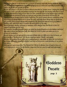 Goddess Hecate page 3