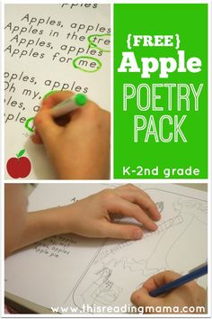 FREE Apple Poetry Pack ~ featuring original poetry and 8 interactive poetry activities {designed for K-2nd grades} | This Reading Mama
