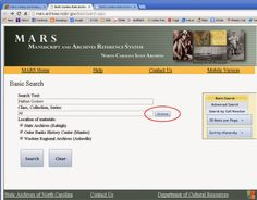 NC State Archives MARS Online Catalog Search for Land Grants