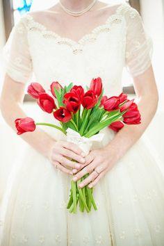 Ramos de novia en rojo