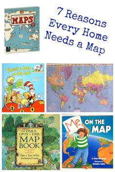 Great books and activities that help kids explore maps, learn geography and practice reading! #maps