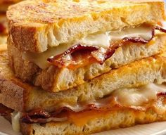 Beer Battered Bacon Grilled Cheese