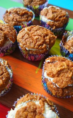 Pumpkin Cream Cheese Muffins...only 75 cals each. Perfect for fall!