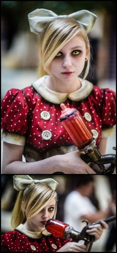 Oh my... Can I have her costume?  Little Sister (from Bioshock) #videogame #cosplay | AWA 2013