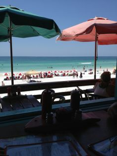 Pompano Joe's is .5 miles from the condo and is an awesome place to go for a drink and some seafood while on the beach.  They have both beach service and also dining service inside.