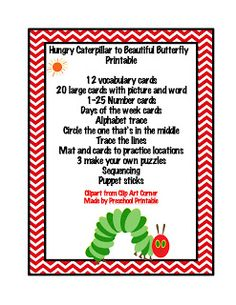 Preschool Printables: Hungry Caterpillar