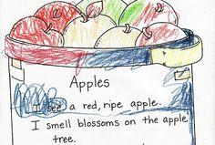 five senses poetry with kids...so sweet, great activity!