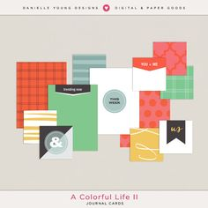 Free A Colorful Life Ii Journal Cards from Danielle Young Designs when you join The Pocket Source Group {on Facebook}