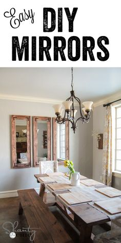 DIY Rustic Full Length Mirrors using cheap mirrors from Target… LOVE these! Cheap and easy too! www.shanty-2-chic.com