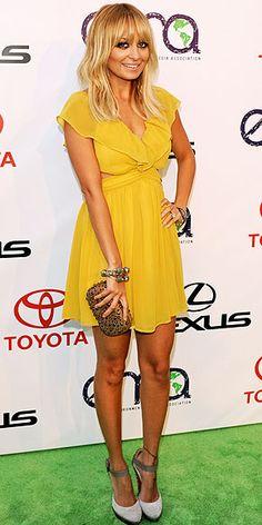 Love the yellow on Nicole Richie
