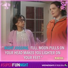 """Night jogging. Full moon pulls on your head makes you lighter on your feet."" - Marika"