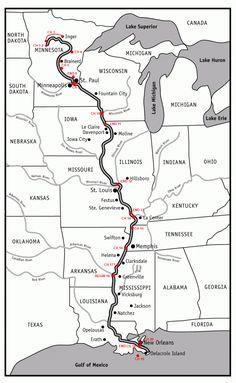 Hannibal Historical Marker Mississippi River Map Huck Finn