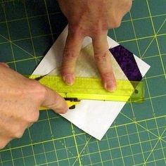 Seven deadly sins of paper piecing