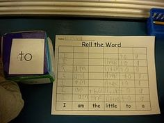 Roll and write the word