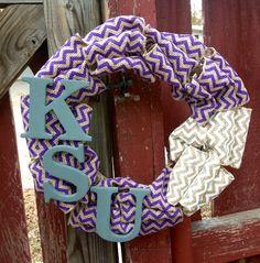 KSU Wreath Kansas State University Wreath Sports Wreath by tkCo, $35.00