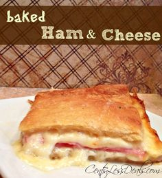 Ham & Cheese Crescent Bake. This was seriously so easy to make and it was sooo delicious!! It's like a hot ham and cheese but takes way less work!! The kids have already requested this again. going into the weekly rotation