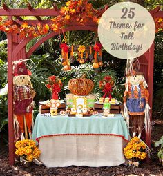 25 Themes for Fall Parties. So many cute ideas!
