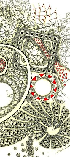 Michele Beauchamp, Certified Zentangle Teacher: Ready To Roll in Red