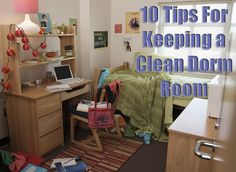 Small living areas make clutter and messes stand out that much more, so take steps every day to keep your dorm room neat and organized.