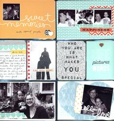 June project life layout - Scrapbook.com