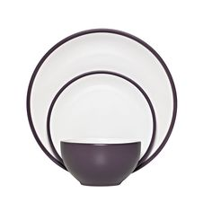 Wilko Dinner Set Purple & White 12 Piece at wilko.com