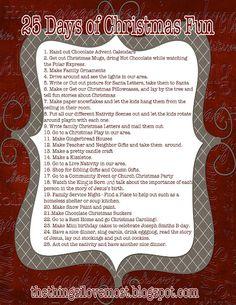 Cute ideas - 25 Days of Christmas Fun! and a quatrefoil!!!